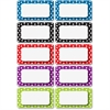 "Ashley Dotted Dry Erase Nameplate Magnets - Rectangle - Magnetic - Dotted - Write on/Wipe off - 2.25"" Height - Multicolor - 10 / Pack"