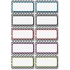 Ashley Chevron Magnetic Die-cut Nameplates - Rectangle - Magnetic - Chevron - Write on/Wipe off, Die-cut - Black, White - 10 / Pack