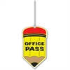 "Ashley Pencil Design Office Pass - Fun Theme/Subject - Pencil - OFFICE PASS - Durable, Long Lasting - 3.75"" Length - Multicolor - 1 Each"