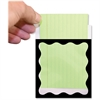 "Ashley Library Pockets - 3.5"" Height x 5"" Width - Rectangular - Scallop Border Design - Black - 1 Pack"