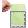 "Ashley Chevron Design Border Library Pockets - 3.5"" Height x 5"" Width - Rectangular - Scallop Border/Chevron Pattern Design - Black - 1 Pack"