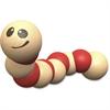 BeginAgain Earthworm Wooden Toy - Skill Learning: Grasping, Senses, Fine Motor
