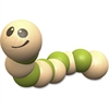 BeginAgain Earthworm Wooden Toy - Skill Learning: Grasping, Senses, Fine Motor