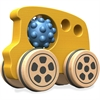 BeginAgain Nubble Rumblers Wooden Bus Toy - Skill Learning: Sensory Perception, Imagination, Fine Motor, Gross Motor