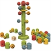 BeginAgain Ladybug Flower Tower Game - Learning - Assorted - Rubberwood