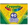 Crayola 40 Ultra-Clean Fine Line Washable Markers - Assorted - 40 / Pack