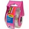 "Scotch Heavy-duty Shipping Packaging Tape - 2"" Width x 66.67 ft Length - Heavy Duty - Dispenser Included - 1 Roll - Pink"