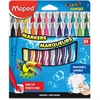 Helix Fine Tip Washable Markers - Fine Point Type - Assorted - 24 / Set