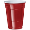 Solo 16 oz. Plastic Party Cups - 16 fl oz - 1000 / Carton - Red - Polystyrene, Plastic - Party, Cold Drink