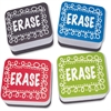 Ashley Chalk Design Mini Whiteboard Erasers - Lightweight, Comfortable Grip - Multicolor - 10 / Pack
