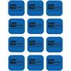 Flipside Magnetic Whiteboard Student Erasers - Magnetic - Blue - Fabric, EVA Foam - 12 / Set