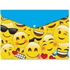 Ashley Emojis Design Snap Poly Folders - Poly - Multi-colored - 6 / Pack
