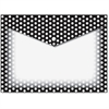 Ashley B/W Dots Design Snap Poly Folders - Poly - Multi-colored - 6 / Pack