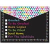 Ashley Checklist Snap Cover Poly Folders - Poly - Multi-colored - 6 / Pack