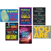 "Trend Self-Esteem ARGUS Posters Combo Pack - Learning, Encouragement - 13.38"" Width x 19"" Height"