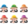"""Trend Monkey Mischief Hats - Learning, Animal Theme/Subject - 36 Monkey Hat - Reusable, Durable, Precut - 6"""" Height - Green, Purple, Red, Blue, Orange, Yellow - 36"""