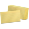 "Oxford Printable Index Card - 3"" x 5"" - 90 lb Basis Weight - 100 / Pack - Canary"
