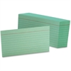 "Oxford Printable Index Card - 3"" x 5"" - 90 lb Basis Weight - 100 / Pack - Green"