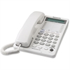 Panasonic Standard Phone - White - Corded - 2 x Phone Line