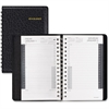 "At-A-Glance 24-Hour Daily Appointment Book - Julian - Daily - 1 Year - January 2017 till December 2017 - 12:00 AM to 11:00 PM - 1 Day Single Page Layout - 4.88"" x 8"" - Wire Bound - Black - Synthetic L"