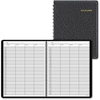 "At-A-Glance 4-Person Undated Daily Group Appointment Book - Julian - Daily - 1 Year - January till December - 7:00 AM to 8:45 PM - 1 Day Single Page Layout - 8.50"" x 11"" - Wire Bound - Black - Leather"