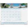 "At-A-Glance Images Of The Sea Monthly Desk Pad Calendar - Julian - Monthly - 1 Year - January 2017 till December 2017 - 1 Month Single Page Layout - 22"" x 17"" - Desktop - White - Paper"