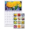"At-A-Glance Flower Garden Monthly Wall Calendar - Monthly - 1 Year - January 2017 till December 2017 - 1 Month Single Page Layout - 12"" x 17"" - Wall Mountable - White - Chipboard, Paper - Hanging Loop"