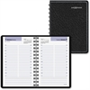 "At-A-Glance Dayminder Compact Daily Appointment Book - Julian - Daily - 1 Year - January 2017 till December 2017 - 7:00 AM to 6:30 PM - 1 Day Single Page Layout - 4"" x 6"" - Wire Bound - Black - Leathe"