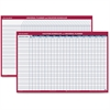 """At-A-Glance Plan-A-Month Wall Planner - 36"""" x 24"""" - Wall Mountable - Rust - Erasable, Laminated"""