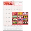 """At-A-Glance Floral Monthly Wall Calendar - Julian - Monthly - 1 Year - January 2017 till December 2017 - 1 Month Single Page Layout - 15.50"""" x 22.75"""" - Wire Bound - Wall Mountable - Black"""