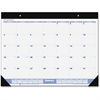 "At-A-Glance 12-Months Desk Pad Calendar - Monthly - 1 Year - January 2017 till December 2017 - 1 Month Single Page Layout - 22"" x 17"" - Desktop, Wall Mountable - Blue, Gray - Vinyl, Paper"