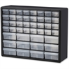 "Akro-Mils 44-Drawer Plastic Storage Cabinet - 44 Compartment(s) - 15.8"" Height x 6.4"" Depth - Wall Mountable - Black, Clear Drawer - Polystyrene - 1Each"