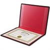 "Anglers Diploma and Certificate Holder - 12"" x 9"" Sheet Size - 2 Internal Pocket(s) - Polypropylene - Black - 1 Each"