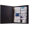"Anglers 3-Ring Business Card Binder - 1000 Capacity - 11"" Length x 8.50"" Width - 3-ring Binding - 5 Tab(s) - Refillable"