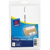 "Avery Postage Meter Labels for Personal Post Office - Permanent Adhesive - 1.18"" Width x 6"" Length - 2 / Sheet - White - 60 / Pack"