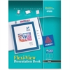 "Avery Flexi-View Presentation Book - Letter - 9 1/2"" x 11 1/2"", 8 1/2"" x 11"" Sheet Size - 24 Sheet Capacity - Internal Pocket(s) - Polypropylene - Black - 1 Each"