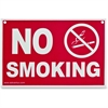 "Advantus No Smoking Wall Sign - 1 Each - No Smoking Print/Message - 8"" Width x 12"" Height - Weather Resistant - Plastic - White, Red"