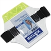 "SICURIX Heavy-Duty Arm Badge Holder - 2.5"" x 3.5"" - Vinyl - 1 Each - Clear"