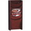 "Buddy 5 Pockets Literature Display Rack - 5 Pocket(s) - 24"" Height x 11"" Width x 3.8"" Depth - Wall Mountable - Mahogany - Wood - 1Each"