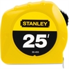 "Stanley 25' Tape Measure - 25 ft Length 1"" Width - 1/16 Graduations - Imperial Measuring System - Plastic - 1 Each - Yellow"