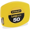 "Stanley 50' Long Tape Measure - 50 ft Length 0.4"" Width - 1/8 Graduations - Imperial Measuring System - Plastic, Polymer - 1 Each - Yellow"