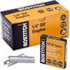 "Bostitch B8 PowerCrown Premium Staples, Full-Strip - 210 Per Strip - 1/4"" Leg - 1/2"" Crown - Chisel Point - Silver - High Carbon Steel - 10000 / Box"