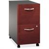 "Bush Business Furniture Series C 2 Drawer Mobile Pedestal - Assembled - 15.7"" x 20.3"" x 28.1"" - 2 x File Drawer(s) - Material: Pressboard, Polyvinyl Chloride (PVC), Engineered Wood, Wood - Finish: Dar"
