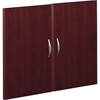 "Bush Business Furniture Series C Half-Height 2 Door Kit - 35"" x 0.7"" x 29"" - Material: Melamine, Polyvinyl Chloride (PVC), Engineered Wood, Wood - Finish: Mahogany, Thermofused Laminate (TFL)"