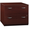 "Bush Business Furniture Series C 36W 2 Drawer Lateral File - Assembled - 35.7"" x 23.3"" x 29.8"" - 2 - Material: Melamine, Polyvinyl Chloride (PVC), Pressboard, Engineered Wood, Wood - Finish: Mahogany,"