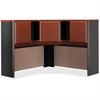"Bush Business Furniture Series A 48W Corner Hutch - 47.3"" x 47.3"" x 36.5"" - Material: Melamine, Polyvinyl Chloride (PVC), Pressboard, Engineered Wood, Wood - Finish: Dark Cherry, Slate, Thermofused La"