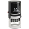 COSCO 2000 Plus Self-Inking Date and Time Stamp - Date & Time Stamp - Red, Blue - 1 Each