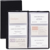 "Cardinal Sealed Vinyl 72 Card File - 72 Capacity - 4.38"" Width x 7.75"" Length - Black Vinyl Cover"
