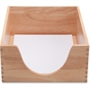 "Carver Hedberg Letter Size Double Deep Desk Tray - 1 Tier(s) - 5"" Depth - Desktop - Oak - Wood - 1Each"