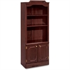 "DMi Governor's Bookcase With Doors - 30"" x 14"" x 74"" - Drawer(s)2 Door(s) - 3 Shelve(s) - Material: Wood - Finish: Laminate, Mahogany"